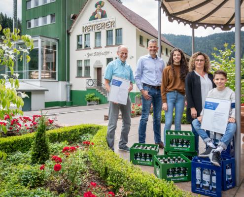 Fam. Ketterer mit Hornberger Lebensquell neues Fördermitglied der WSU